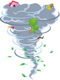 The sign of tornado. The cartoon style of tornado Stock Photo
