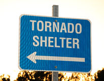 Sign for a tornado shelter Royalty Free Stock Photos