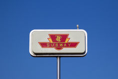 Sign for Toronto Subway Royalty Free Stock Photos