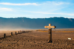 Sign towards Bromo mountain, Java, Indonesia Royalty Free Stock Photo