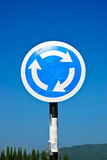 Sign traffic circle with blue sky Stock Images