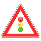 Sign on a traffic light Stock Images