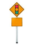 Sign of traffic lights isolated on white background Royalty Free Stock Photography