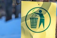 Sign of trash bin Stock Photo