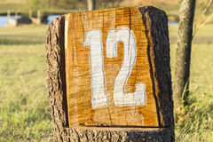 Sign Twelve 12 Golf Hole Stock Images