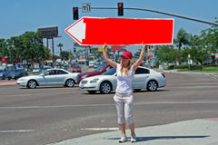 Sign Twirler (Spinner) Royalty Free Stock Images