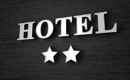 Sign for two star hotel Stock Images