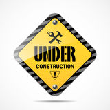 Sign under construction background Royalty Free Stock Photo