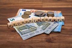 Sign Unemployment Benefit Welfare Reform Basic Income german Hartz IV-Reform Solidarisches Grundeinkommen. Euro money cash royalty free stock photos