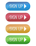 Sign up Stock Image
