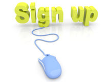 Sign up. 3D rendered Illustration Royalty Free Stock Photos