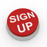Sign up button. Computer render Stock Photography