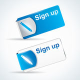 Sign up button or icon stock illustration