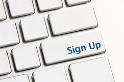 Sign up button Stock Images