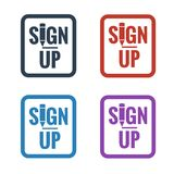 Sign up button icons Royalty Free Stock Images