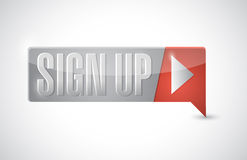 Sign up button illustration design Stock Image