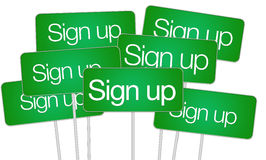 Sign up buttons Stock Image