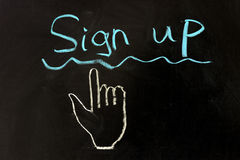 Sign up concept Royalty Free Stock Photos