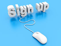 Sign up. 3D rendered Illustration Royalty Free Stock Photography