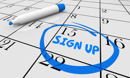 Sign Up Deadline Date Day Circled Calendar Stock Image