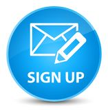 Sign up (edit mail icon) elegant cyan blue round button Royalty Free Stock Photo