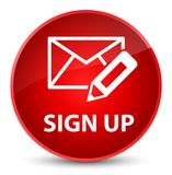 Sign up (edit mail icon) elegant red round button royalty free illustration