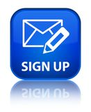 Sign up (edit mail icon) special blue square button Royalty Free Stock Image