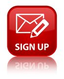 Sign up (edit mail icon) special red square button Royalty Free Stock Image