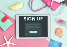 Sign Up Form Button Graphic Concept Royalty Free Stock Photos