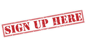 Sign up here stamp Royalty Free Stock Photo