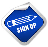 Sign up icon Stock Photos