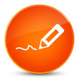 Sign up icon elegant orange round button Royalty Free Stock Photography