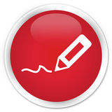 Sign up icon premium red round button Stock Photography