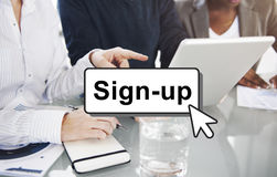 Sign-Up Join Login Member Network Page User Concept Stock Photography