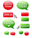 Sign up & join us icons Stock Photos