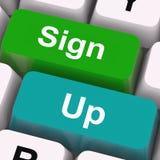 Sign Up Keys Mean Registration And Membership. Sign Up Keys Meaning Registration And Membership stock illustration