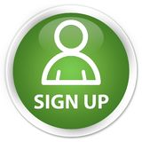 Sign up (member icon) premium soft green round button Stock Photography