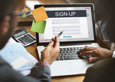 Sign Up Membership Registration Follow Concept. Sign Up Membership Registration Follow Royalty Free Stock Photography