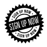 Sign Up Now rubber stamp Stock Photos