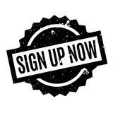 Sign Up Now rubber stamp Stock Image