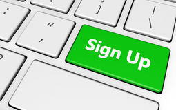 Sign Up Pc Button Stock Photo