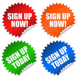 Sign up register Royalty Free Stock Image
