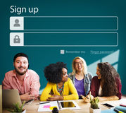 Sign up Register Account Profile Join Concept Stock Image