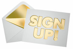 Sign Up Register Invitation Envelope Join Us Royalty Free Stock Photo