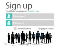 Sign Up Register Online Internet Web Concept Stock Images