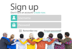 Sign Up Register Online Internet Web Concept Stock Image