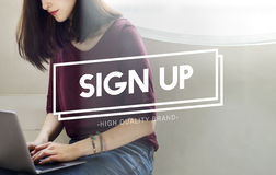 Sign Up Registration Membership Joining Concept Stock Images