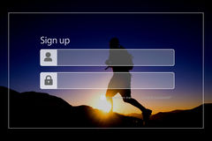 Sign Up Registration Password Privacy Security Concept Royalty Free Stock Photos