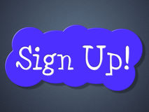 Sign Up Shows Apply Registration And Online Stock Image