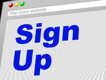Sign Up Shows Subscribe Register And Online Stock Photo